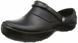 Crocs Womens Mercy Closed Toe SlingBack Clogs, Black/Black, Size 9.0 oobX