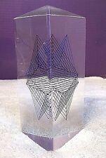 VTG 3D Op Optical Art Kinetic Prism Lucite Acrylic Sculpture Mari Edelman ? 5962