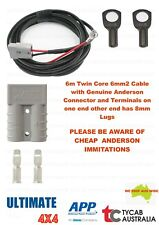 6m Twin Core 6mm2 Cable Genuine Anderson 8mm Lug Caravan, Camping, Fridge Ext