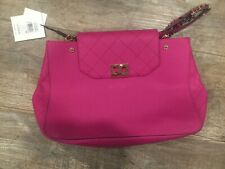 NWT Calvin Klein Pink Magenta Leather Tote Bag