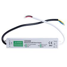 Waterproof LED Driver 20 w Watt 12 v volt IP67 power supply transformer outdoor