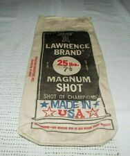 Lawrence Brand 25 Lbs. 7 1/2 Magnum Shot Empty Bag Look!