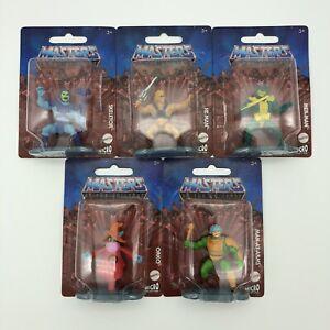 MOTU Micro Collection 5 Figure Set: He-Man, Mer-Man, Skeletor, Man-At-Arms, Orko