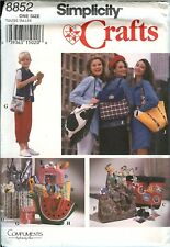 Simplicity 8852 Handbags Totes Purses Lunch Backpack crafts pattern UNCUT FF