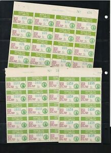 US STATE REVENUE STAMP COLLECTION 5 page LOT 4 Washington State Fruit Commission