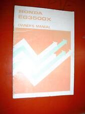 UP TO 1985 HONDA GENERATOR EG3500X FACTORY OWNERS MANUAL