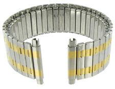 16-21mm Speidel Twist-O-Flex Silver&Gold Two-Tone Straight Watch Band 1377/17XL