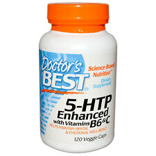 5-HTP + Vitamins B6 & C - 120 Vcaps Doctor's Best - for Mental Well-Being