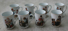 Norman Rockwell Collector cups 8 different cups