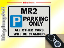MR2 Key Ring & Parking Sign Novelty Gift Set Toyota