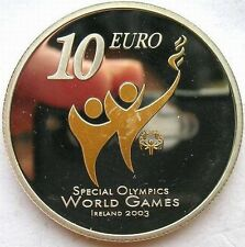 Ireland 2003 Special Olympics 10 Euro Colour Silver Coin,Proof