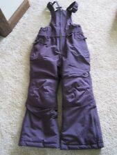 Lands End Squall size 4 ski snow pants bibs purple girls