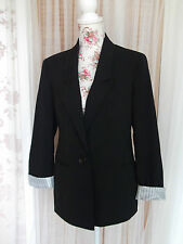 Viscose No Pattern Single Breasted Coats & Jackets for Women