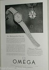 1954 OMEGA Watch advertisement, Globemaster Chronometer, Olympic Cross award