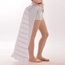 1PC White Punk Cage Frame Petticoat Renaissance Gown Costume Ladies Bustle