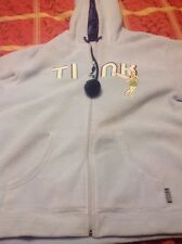 Disney Tinker Bell Blue Fleece  Zip Up Jacket Size Large 12-14 Rink