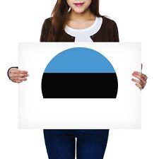 A2 - Estonia Europe Tallinn Flag Poster 59.4X42cm280gsm #9109