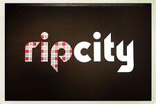 """Rip City"" Poster Fan Sign Handbill Portland Trailblazers"