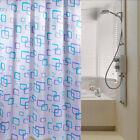 Useful 1Pc Waterproof Polyester Fabric Pattern Hooks Bathroom Shower Curtain New