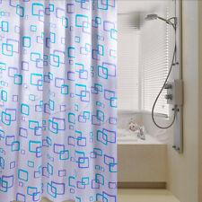Hot Shower Curtain Bathroom Waterproof Polyester Fabric Random Pattern & Hooks