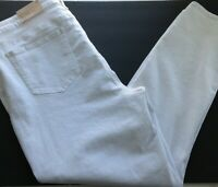 NYDJ Not Your Daughters Jeans Alina Skinny White Denim Jeans Size 16