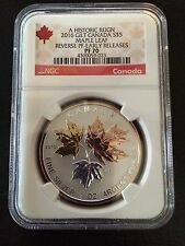 2016 $5 CANADA SILVER MAPLE LEAF GILT NGC PF70 REVERSE PROOF ER PINK GOLD 1 OZ