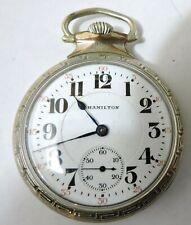 1925 Hamilton 992 16S 21J 14k GF Nawco King Case, Railroad Pocket Watch, NICE!