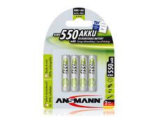 4 x Ansmann Power batería 550mah AAA micro 1,2v schnellladefährig NiMH 5030772