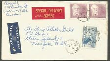 1963 Special Delivery Airmail Cover 17c Gzowski/Goose CDS Vancouver BC to USA