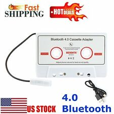 Bluetooth 4.0 Car Music Audio Receiver Cassette Mp3 Cd Player Adapter Handsfree