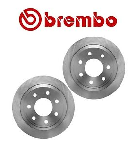For Ford F150 Pair Set of 2 Rear Heavy Duty Brake Disc Rotors Vent 7 Lugs Brembo