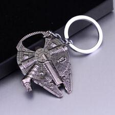Vintage Tin Silver Star Wars Millennium Falcon Metal Keychain Gift Bottle Opener