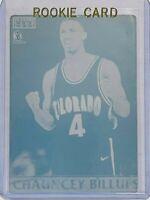 1/1 CHAUNCEY BILLUPS ROOKIE 1997 PLAYERS CLUB PRINTING PLATE CARD #23 CELTICS RC
