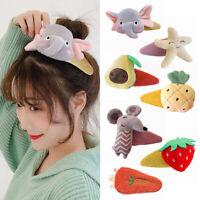 Women Girl Sweet Barrettes Hairpins Girls Cute Cartoon Animal Fruit Hair Clip