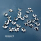 30PC Solid Sterling Silver 5mm 4.9mm Flower Floral Bead Cap Spacer 33034