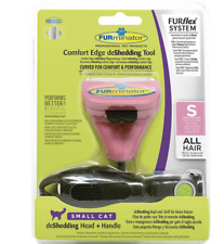 Furminator FURflex DeShedding Tool Combo Cat Small follows a pet's natural shape