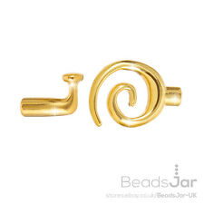 Gold Plated Kumihimo Glue In Swirl Toggle Clasps 3.2mm glue in hole (D41/34)