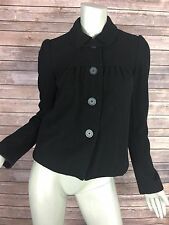 Joie Coat Womens Size Small 16010 Black Wool Blend Military Style
