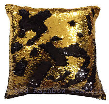 Mermaid Magic Sequin Gold & Black 17 inch Sparkle Bling Cushion Cover SALE