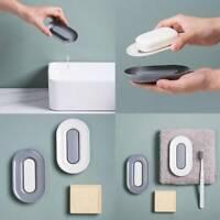 Soap Case Dish Bathroom Accessories Box Tray Drain Holder With Bubble Sponge SH