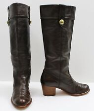 COACH Brown Leather Fayth Cuffed Riding Boots Size 7