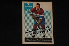 HOF DICKIE MOORE 1962-63 PARKHURST SIGNED AUTOGRAPHED CARD #42 CANADIENS