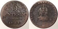 5 Centesimi 1834 M Regno Lombardo Veneto Molto Raro #3774A