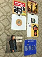 rare BEATLES RELATED lot vinyl 45rpm Picture Sleeves