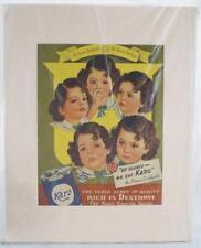 "Vintage Karo Advertisement Magazine Matted 16""x20"""