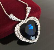 Halskette Titanic Herz des Ozeans mit SWAROVSKI® KRISTALL 18K Weißgold Herzkette