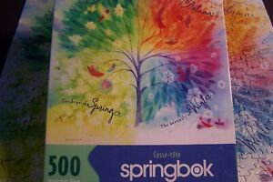 COMPLETE Springbok SEASONS #2002 Vtg jigsaw pzl. 500+ pcs. RARE  Only 1 listed.