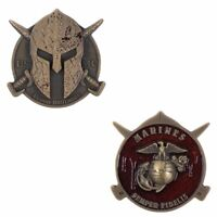"""COIN: 2"""" USMC SPARTAN BLOOD BROTHERS"""