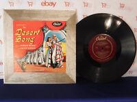 """The Desert Song, Soundtrack, Capitol L 351, 1952, 10""""33 RPM LP, Gordon RacRae"""