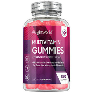 Multivitamin Chewable 120 Vegan Gummies for Immune Support, Skin, Hair and Nails